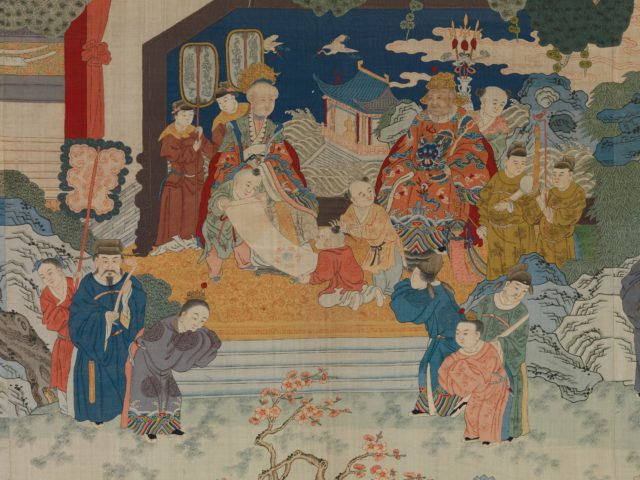 Tapestry Panel with Reception Scene