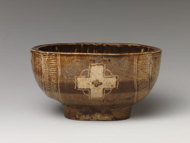 Tea Bowl with Cross Design