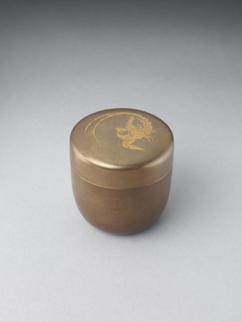 Tea Container (Natsume) with Phoenix