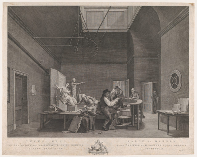 The Drawing Academy at the Felix Meritis Society in Amsterdam