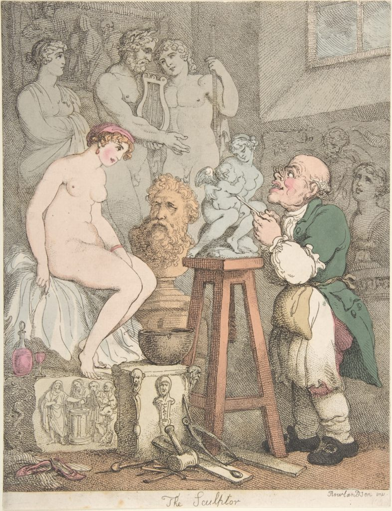 The Sculptor [Preparations for the Academy, Old Joseph Nollekens and his Venus]