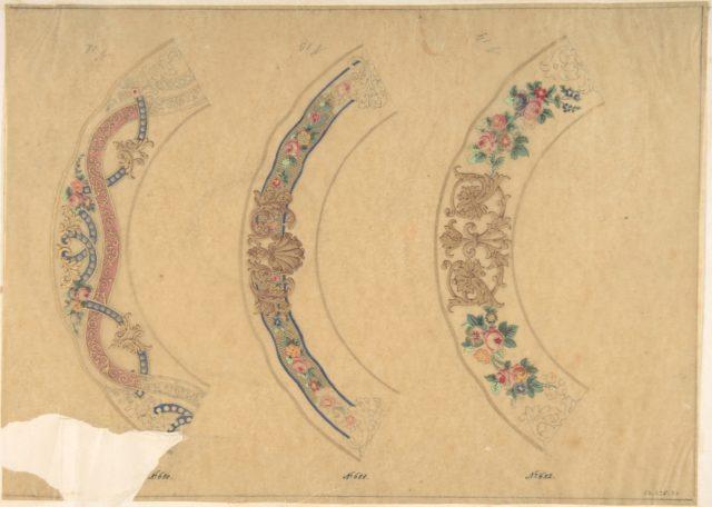 Three Designs for Plate Borders (recto); Three Designs for Plate Borders (verso)