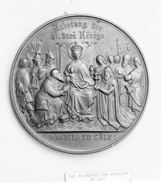 To commemorate the completion of Cologne Cathedral by King William I of Prussia, 1880
