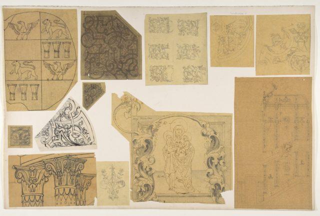 Twelve ornamental designs for the decoration of interiors
