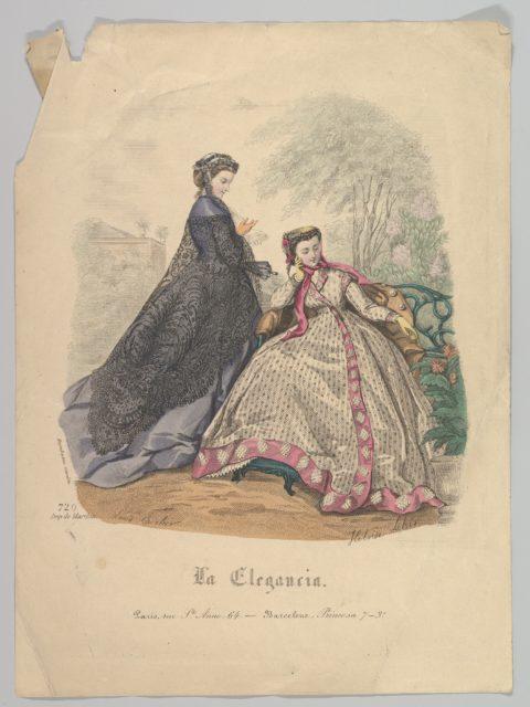 Two Women Outdoors, No. 720, from La Elegancia (Barcelona)