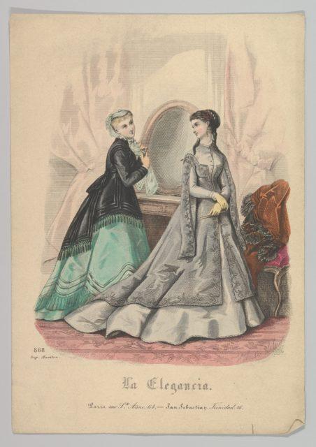 Two Women with a Mirror,  No. 868, from La Elegancia (San Sebastian?)