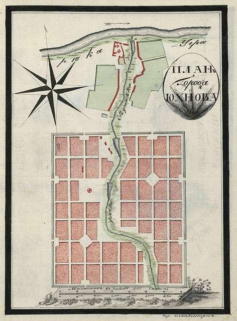 City plan of Yukhnov.