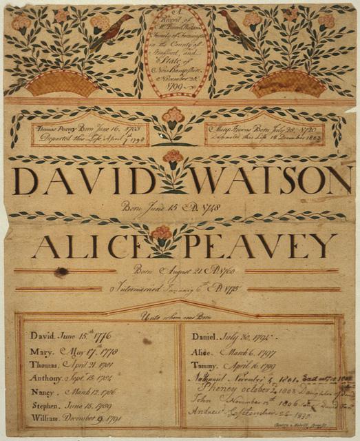 David Watson, New Hamsphire