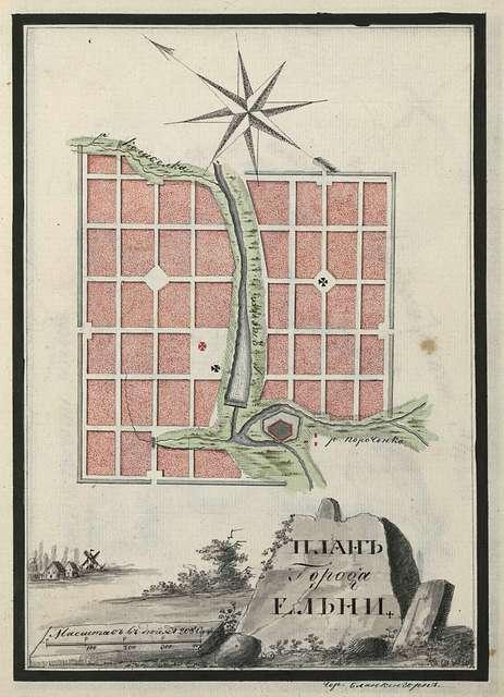 Elnya city plan.