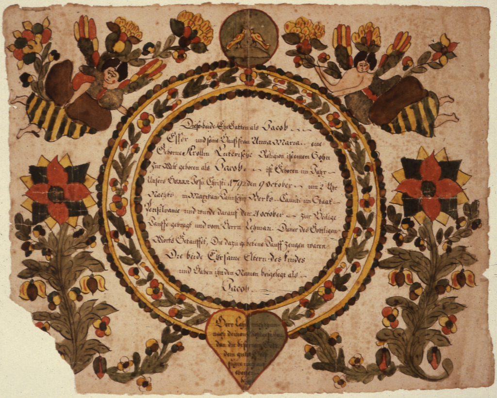 Fraktur of the Family of Jacob Esser