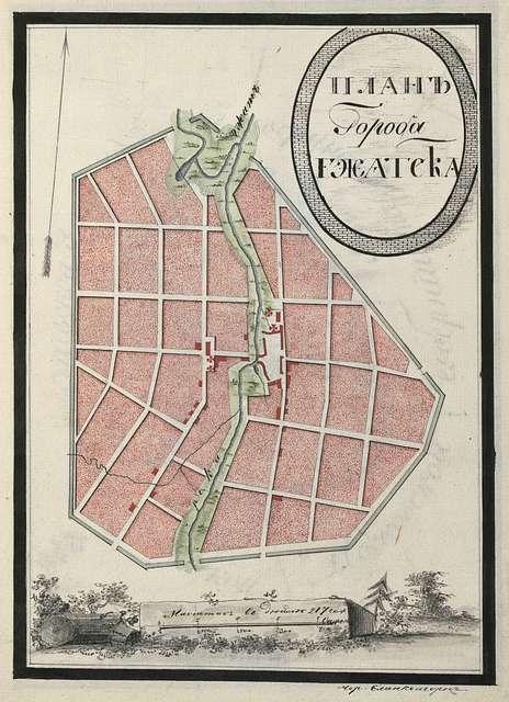 Gzhatsk city plan.