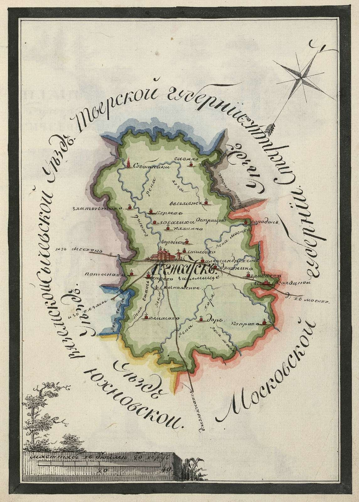 Gzhatsk county plan.