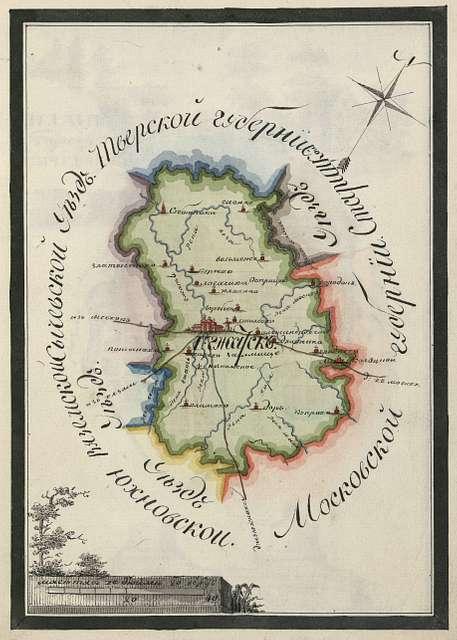 Gzhatsk county plan.