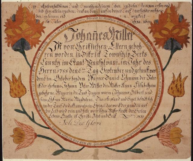 John Peter Miller, Pennsylvania