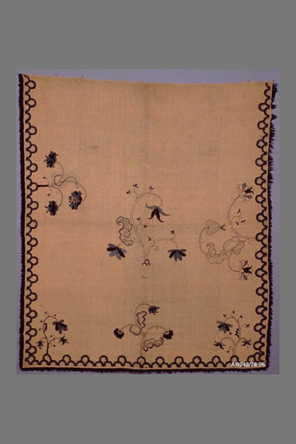 Embroidered blanket