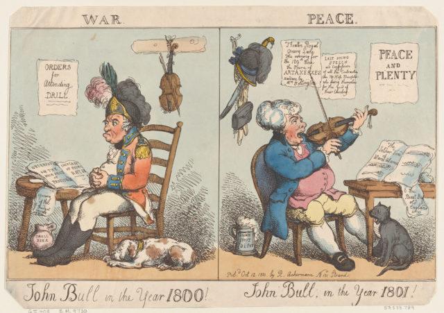 John Bull in the Year 1800! John Bull in the year 1801!