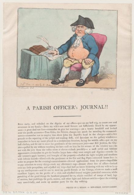 A Parish Officer's Journal!!