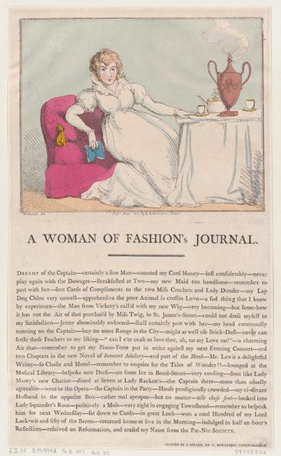 A Woman of Fashion's Journal