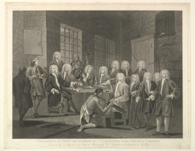 Bambridge on Trial for Murder by a Committee of the House of Commons