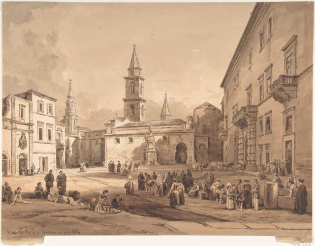 The Main Square in Andria (Bari)