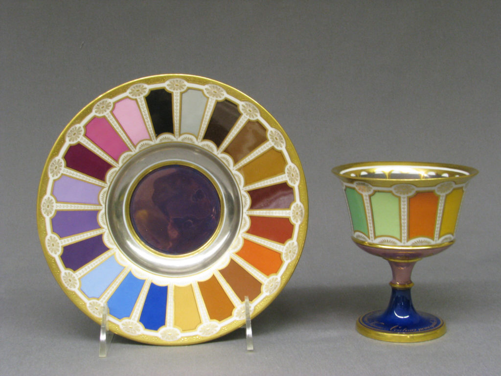 Goblet and saucer