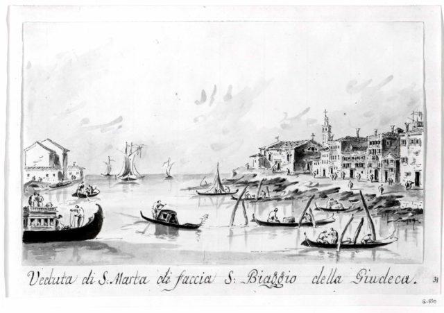 The Punta di Santa Marta, Opposite the Giudecca
