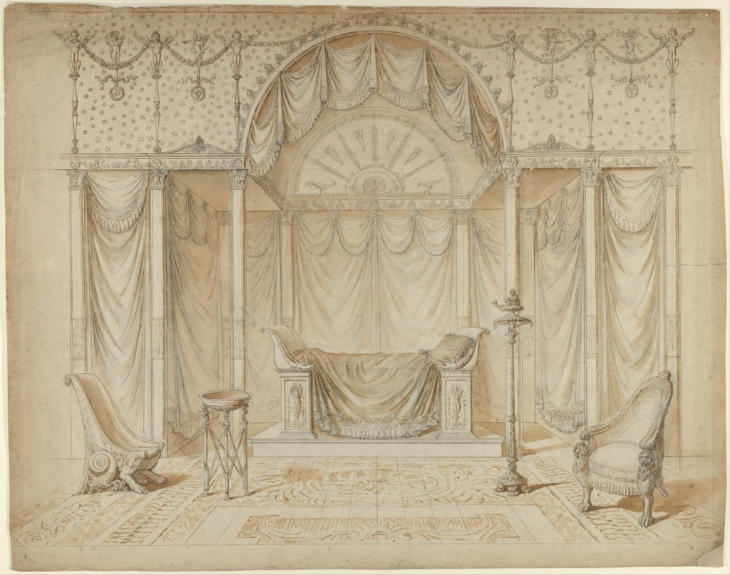 Design for a Bed Alcove in Empire Style