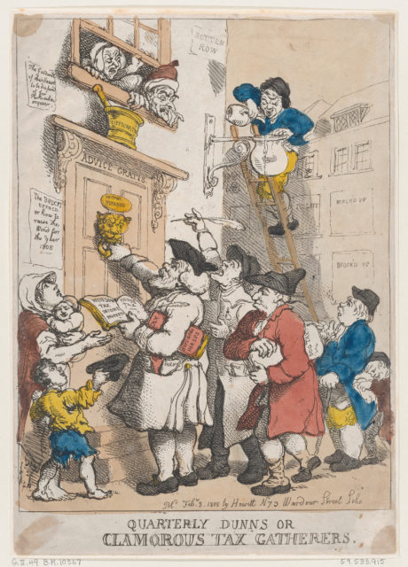 Quarterly Dunns, or Clamorous Tax Gatherers