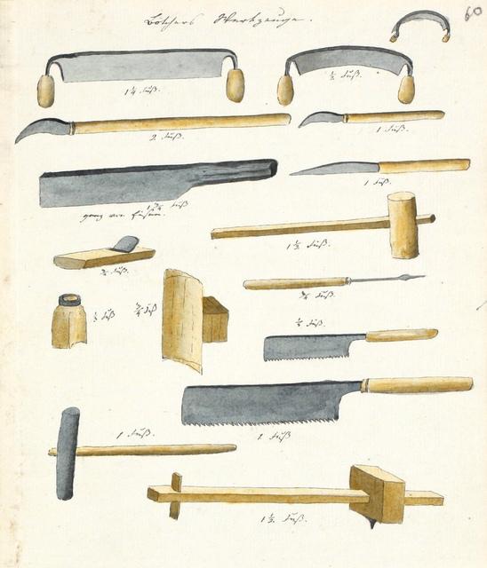 Jaapani püttsepa tööriistad / A Japanese cooper's tools