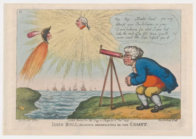 John Bull Making Observations on the Comet
