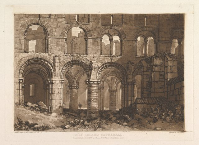 Holy Island Cathedral (Liber Studiorum, part III, plate 11)