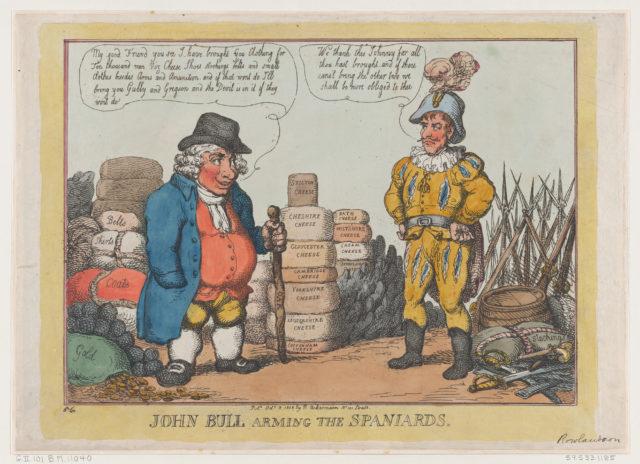 John Bull Arming The Spaniards