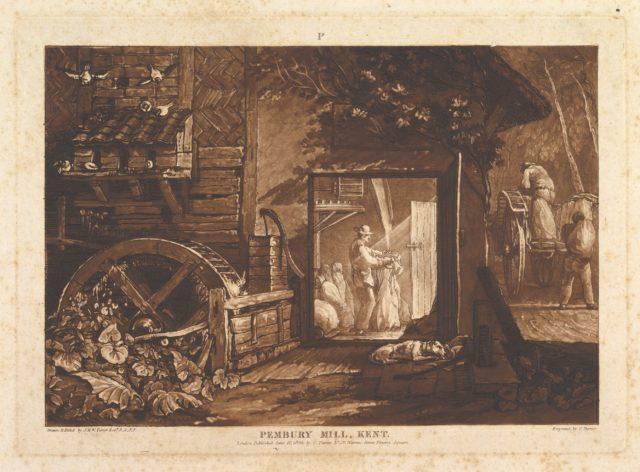 Pembury Mill, Kent (Liber Studiorum, part III, plate 12)