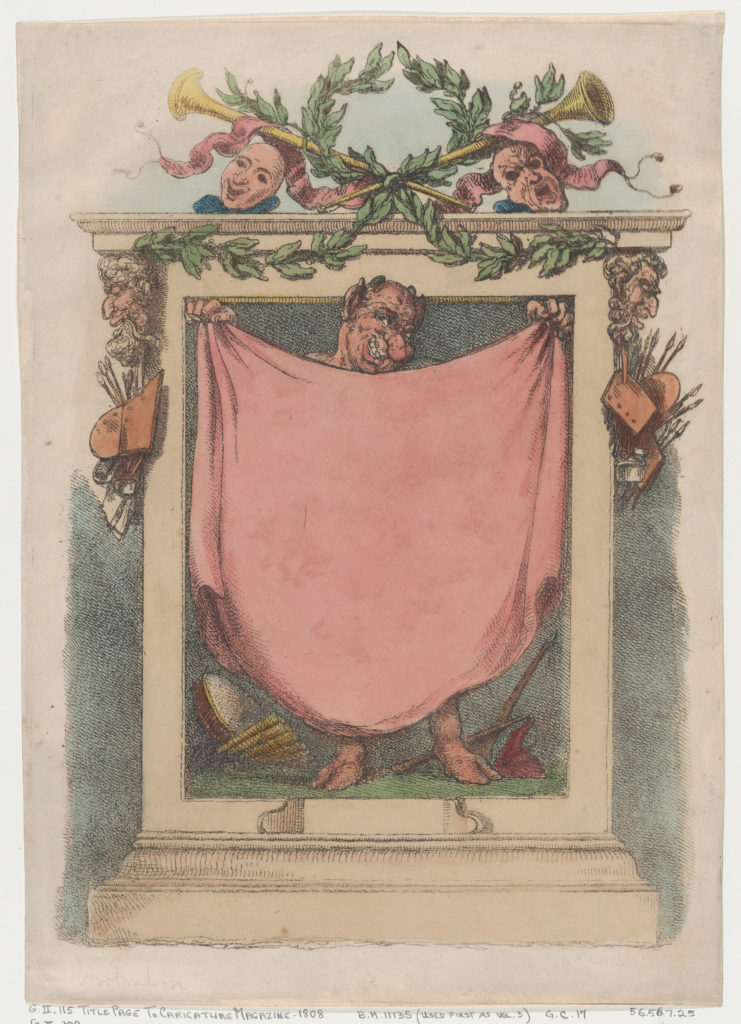 Title Page, Rowlandson's Caricature Magazine