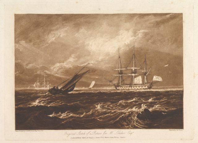 The Leader Sea Piece (Liber Studiorum, part IV, plate 20)