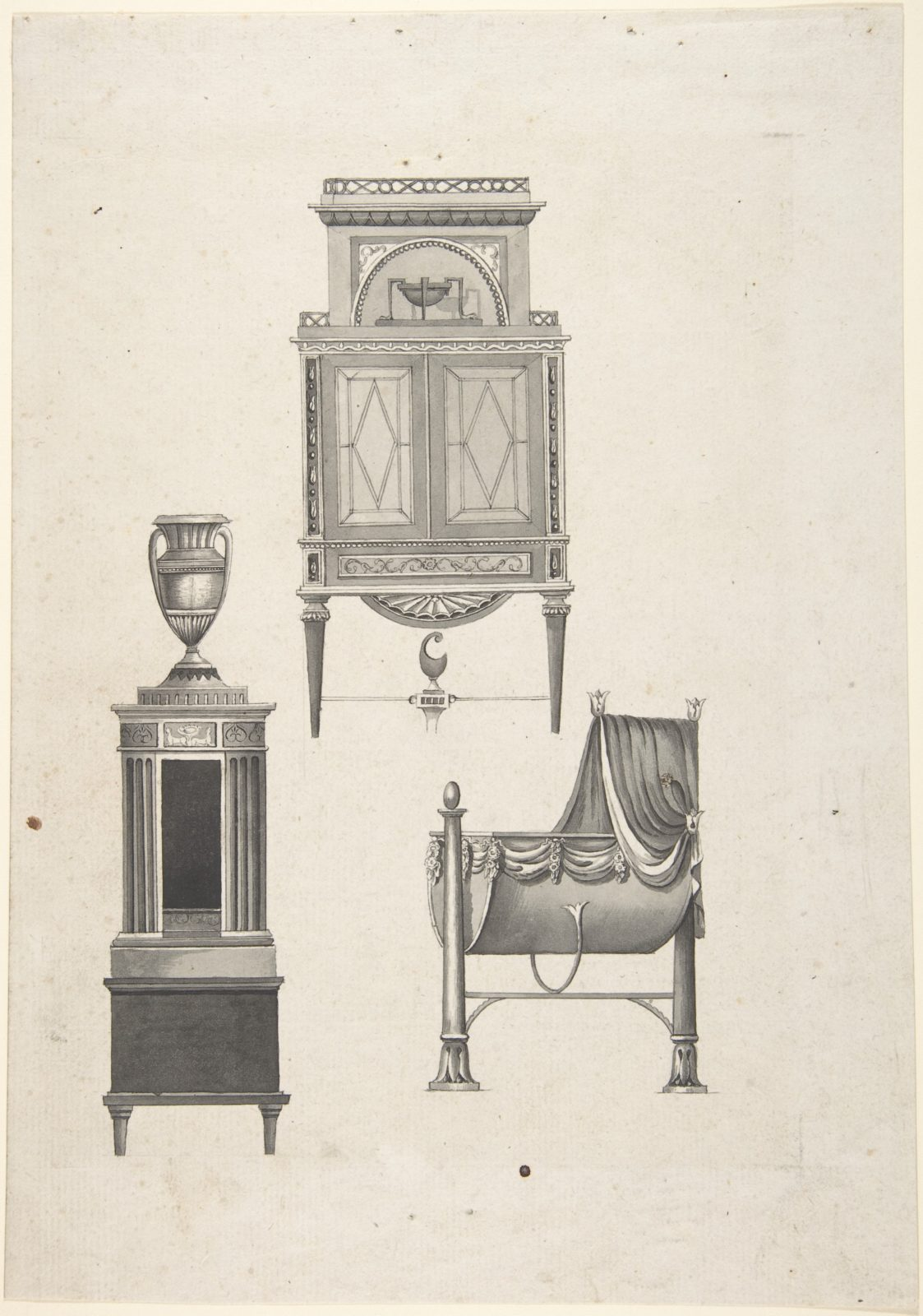 DESIGN FOR FURNITURE IN A VARIATION ON THE STYLE OF THOMAS SHERATON