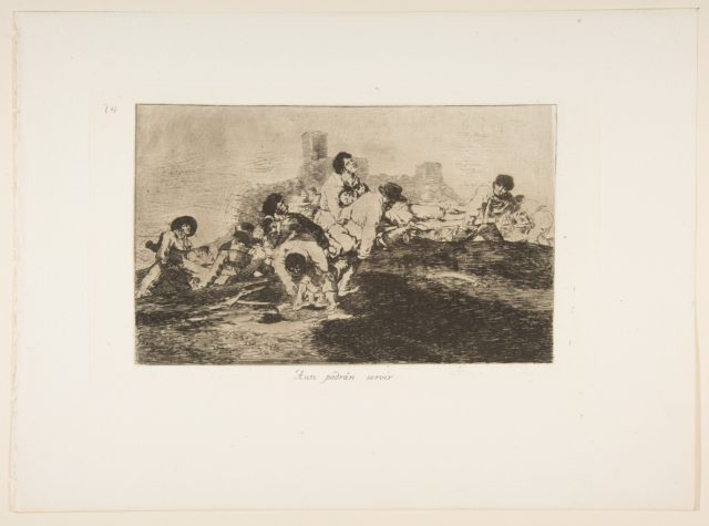 Plate 24 from 'The Disasters of War' (Los Desastres de la Guerra):' They can still be of use.' (Aun podrán servir)