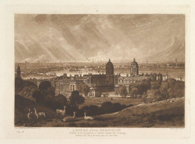 London from Greenwich (Liber Studiorum, part V, plate 26)