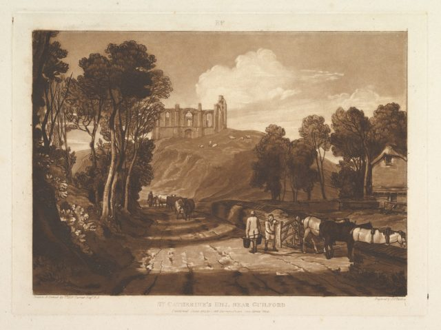 St. Catharine's Hill near Guilford (Liber Studiorum, part VII, plate 33)