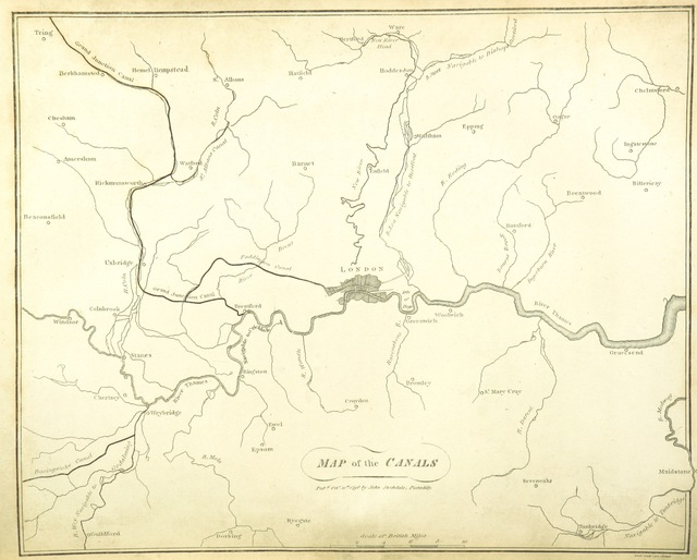 """map from """"The History of London, and its environs. ... Likewise an account of all the towns, villages and country, within twenty-five miles of London. By ... H. Hunter ... and other gentlemen. ... With maps, plans and views"""""""