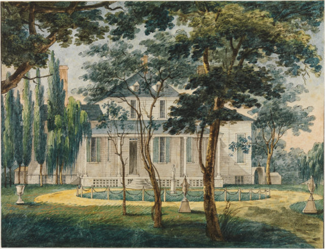 A Country Residence, Possibly General Moreau's Country House at Morrisville, Pennsylvania