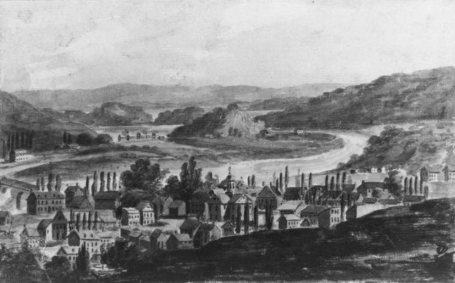 A Town on the Mohawk River in Central New York State (?)