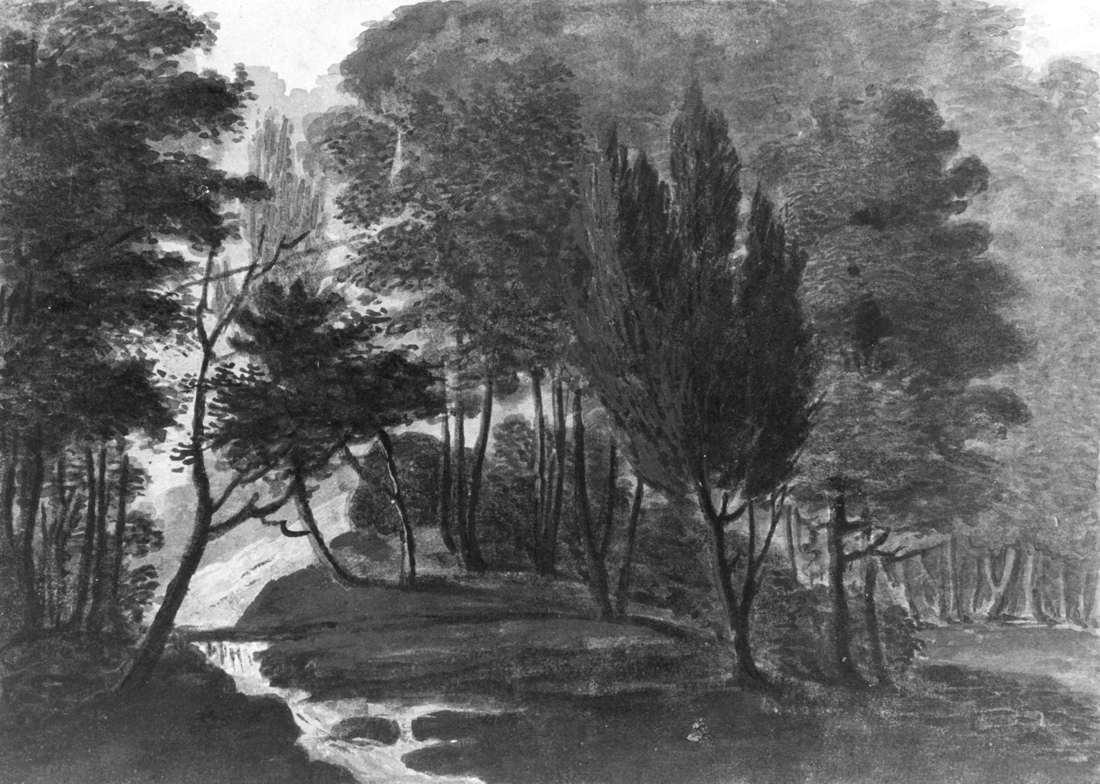 A Woodland Scene (The Sun Reflecting on the Dew, a Garden Scene: Echo, Pennsylvania, A Place belonging to Mr. D. Bavarage, 1808)