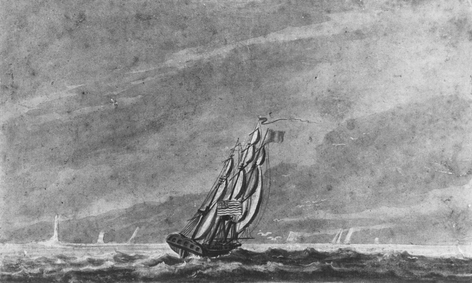 Full Sail off Sandy Hook—Entrance to New York Harbor