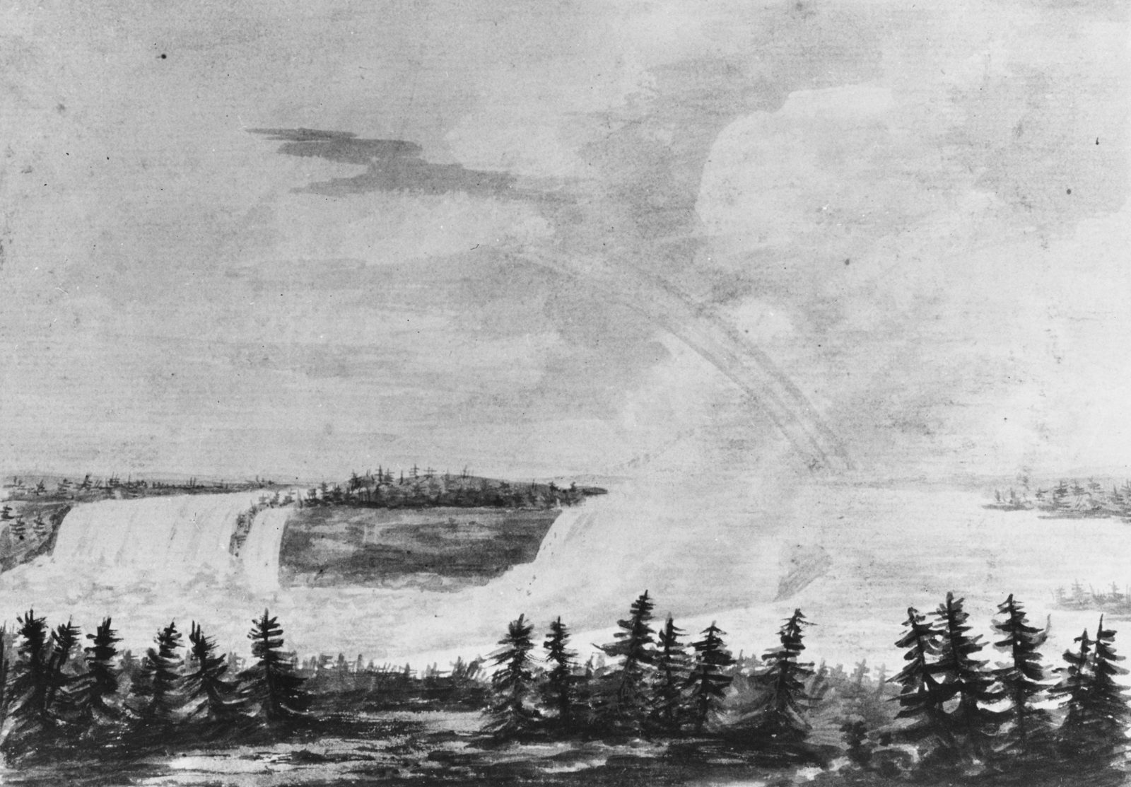 The Falls of Niagara (Copy after an Engraving in The Port Folio Magazine, March 1810)