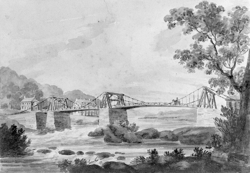 The Falls of the Schuylkill and Chain Bridge