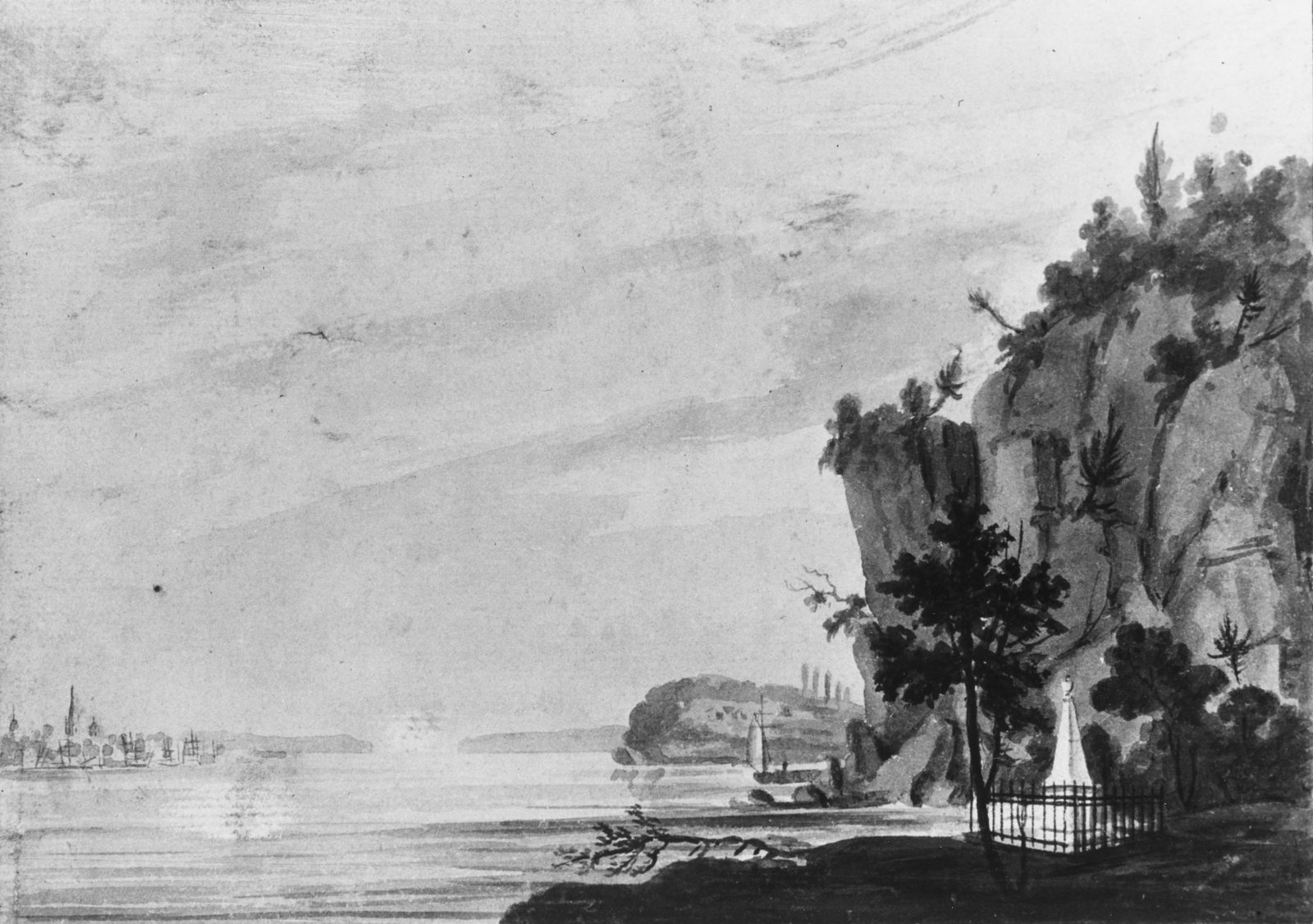 The Monument to Alexander Hamilton at Weehawken