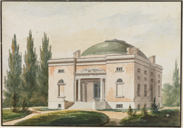 The Pennsylvania Academy of the Fine Arts, Philadelphia (Copy after an Engraving in The Port Folio Magazine, June 1809)