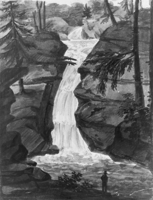 Upper Falls of Solomon's Creek (after an Engraving in The Port Folio Magazine, December 1809)