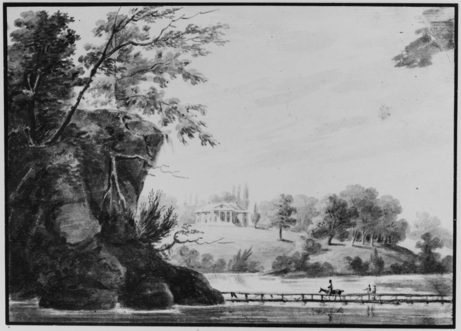 View of Morrisville, General Moreau's Country House in Pennsylvania, Possibly The Woodlands, Pennsylvania